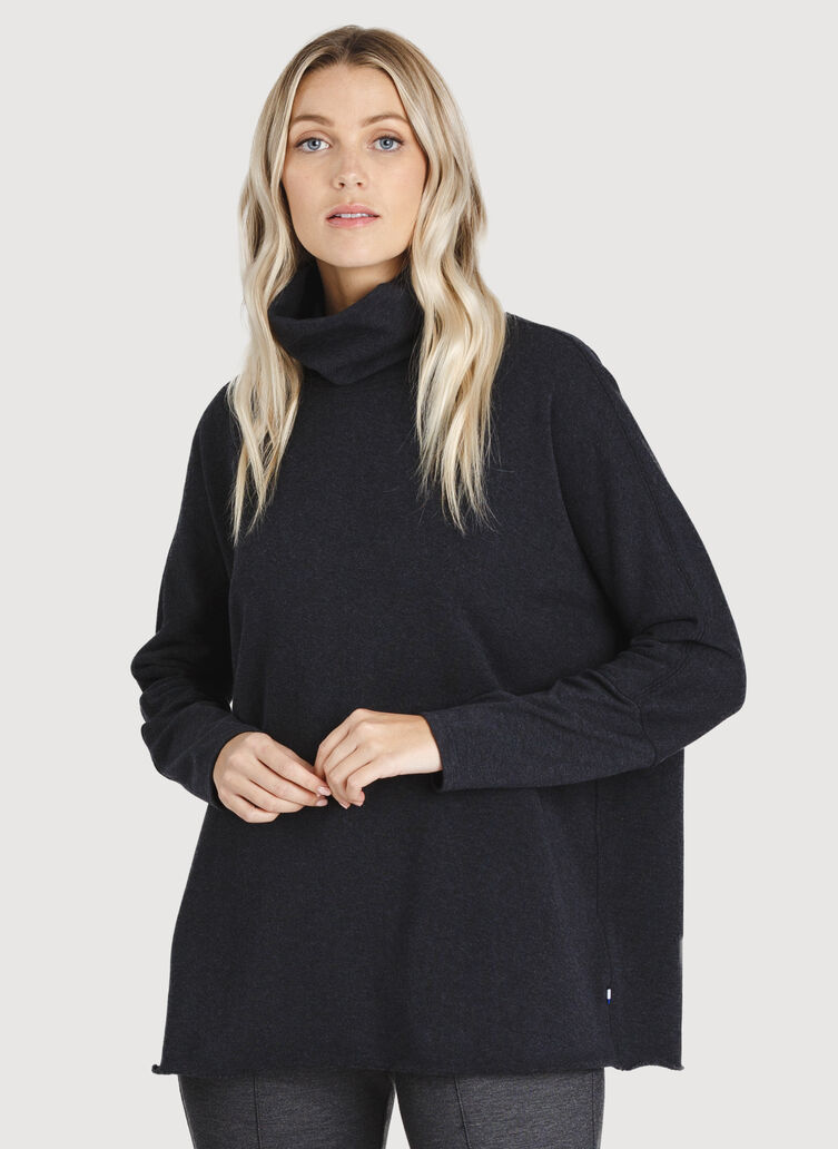 Pleasant Pullover, HTHR Black | Kit and Ace