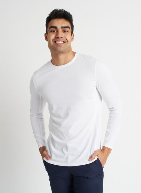 Ace Long Sleeve Tee, Bright White | Kit and Ace