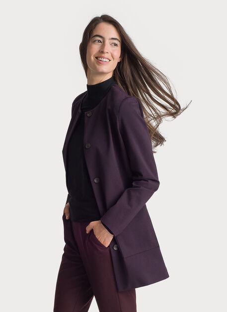 Collarless Stretch Jacket, HTHR Oxidize | Kit and Ace