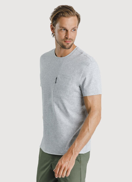 Ace Pima Pocket Tee, HTHR Metal | Kit and Ace