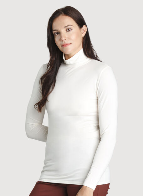 Kit Long Sleeve Turtleneck, ECRU | Kit and Ace