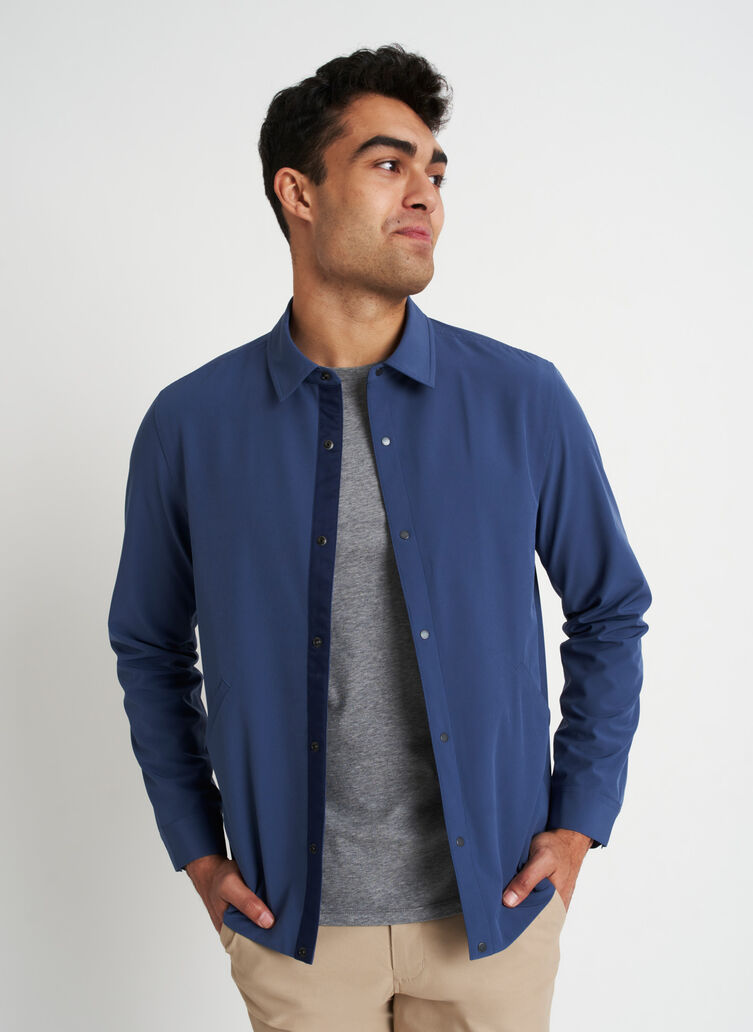 Travel Lightly Packable Jacket, Dark Denim | Kit and Ace
