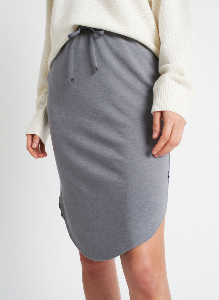 Brushed Drawstring Skirt, Heather Shade | Kit and Ace