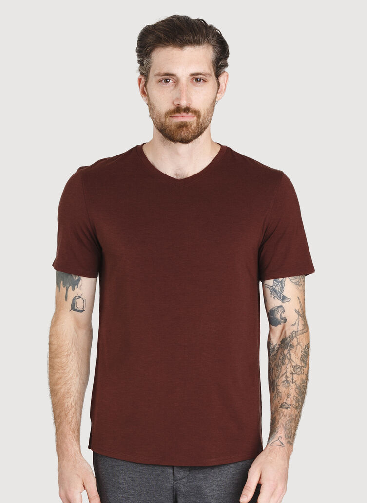 Ace V Tee, Cherrywood | Kit and Ace