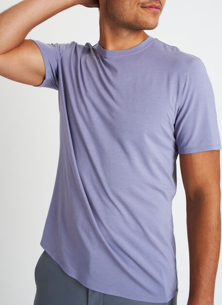 Ace Crew Tee, Lavender Grey | Kit and Ace