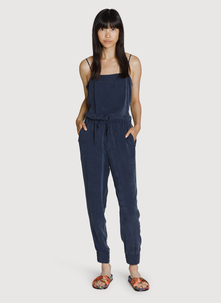 Easy Breezy Stretch Jumpsuit, DK Navy | Kit and Ace