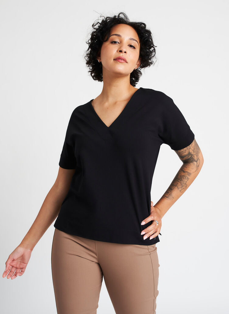 Back to Front Tee, Black | Kit and Ace
