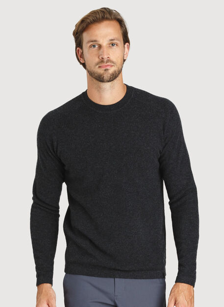 Cashmere Crew Sweater, HTHR Storm   Kit and Ace
