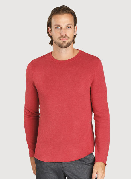 The B.F.T. Long Sleeve Crew, HTHR Chili Pepper | Kit and Ace