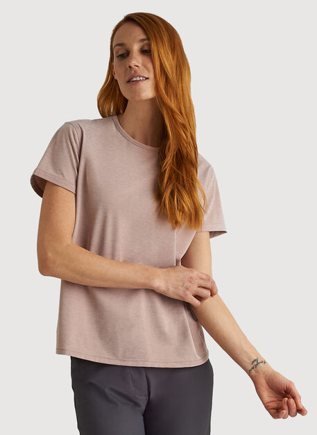 O.T.M. Crew Tee, Glazed Ginger Chambray | Kit and Ace