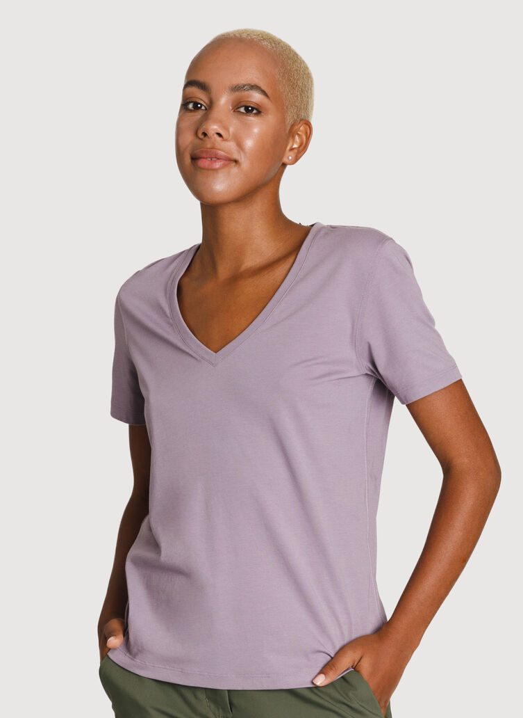The Main Pima V Neck, Gray Ridge | Kit and Ace