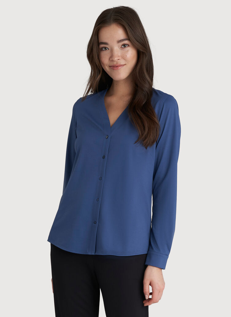 Going Places Blouse, Dark Denim | Kit and Ace