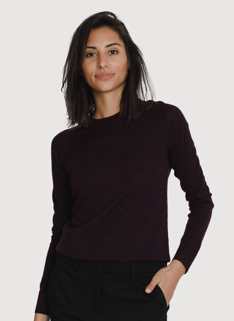 Sunsetter Crew Neck Sweater, Mahogany | Kit and Ace