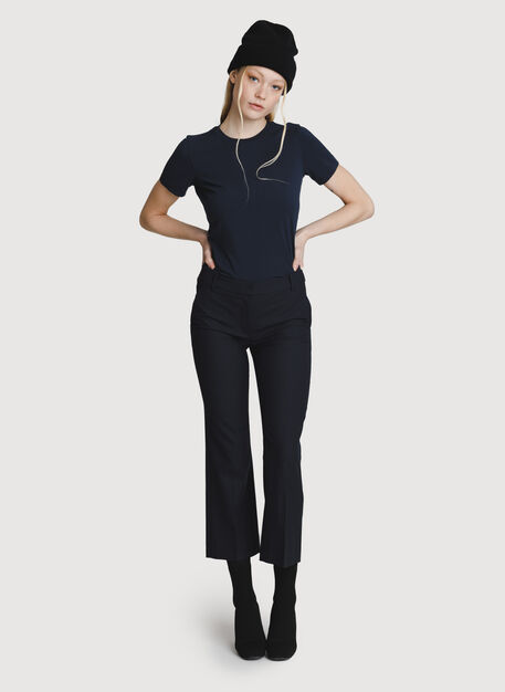 Baby Flare Trouser, DK Navy | Kit and Ace