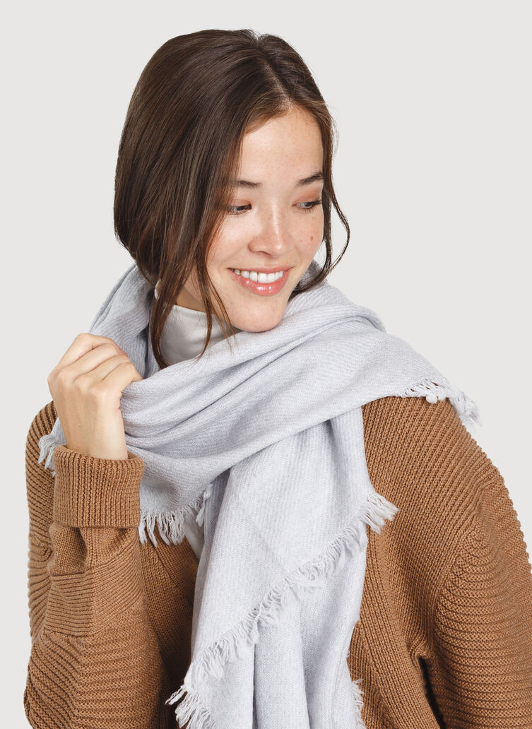 Blanket Scarf, Heather Grey | Kit and Ace
