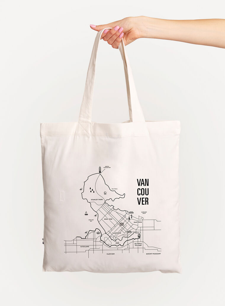 City Tote Bag, White/Vancouver   Kit and Ace