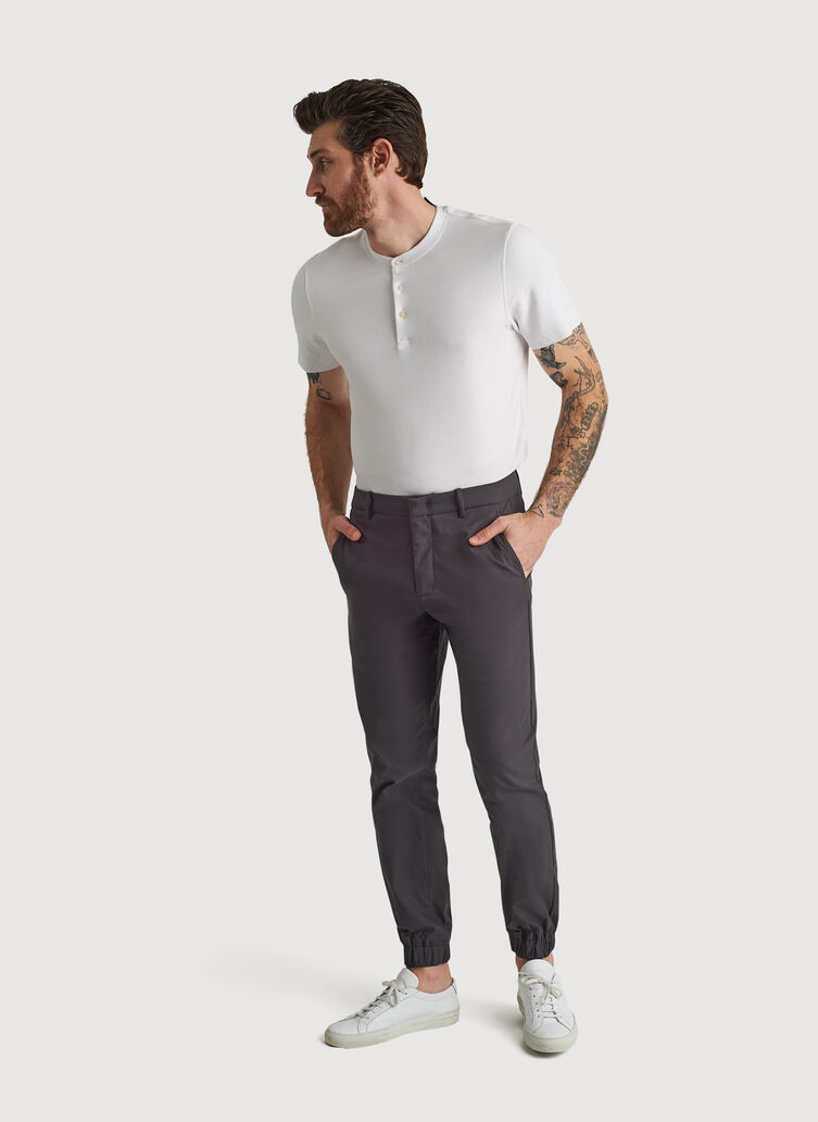 Navigator Commute Jogger Slim Fit, Charcoal | Kit and Ace