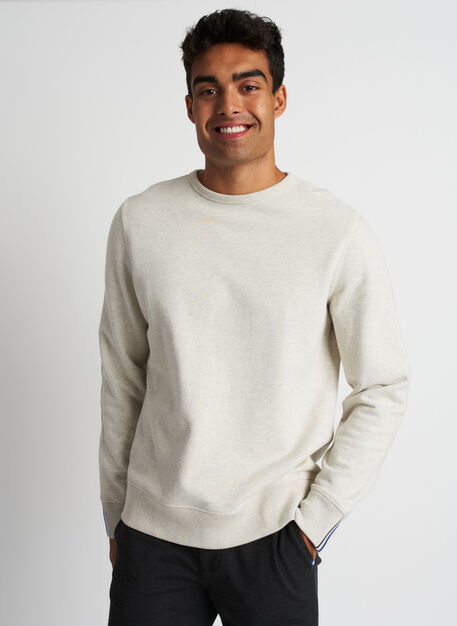 West Coast Crewneck Pullover, Heather Birch | Kit and Ace