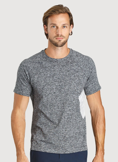 Side Storage Tee, HTHR Dk Grey | Kit and Ace