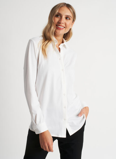 On the Move Pleated Shirt, Bright White | Kit and Ace