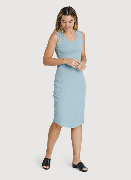 Kit Pima Scoop Neck Dress, Ocean Blue | Kit and Ace