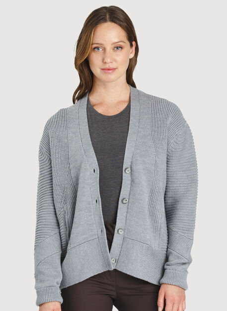 Ash Cardigan, HTHR GREY | Kit and Ace