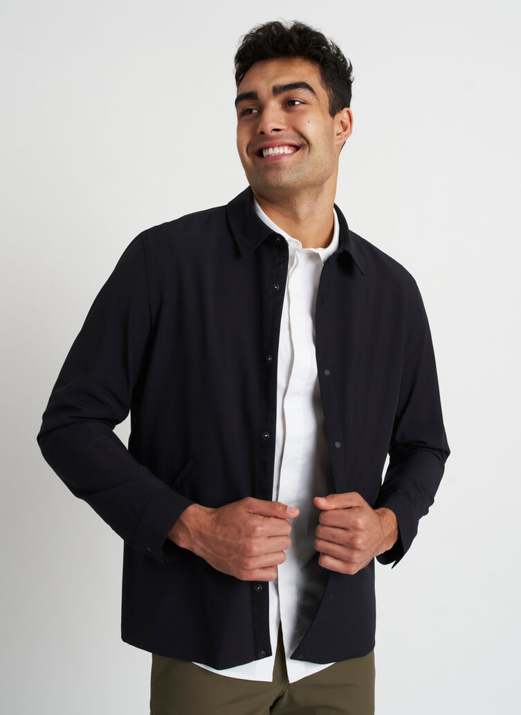 Travel Lightly Packable Jacket, Black | Kit and Ace