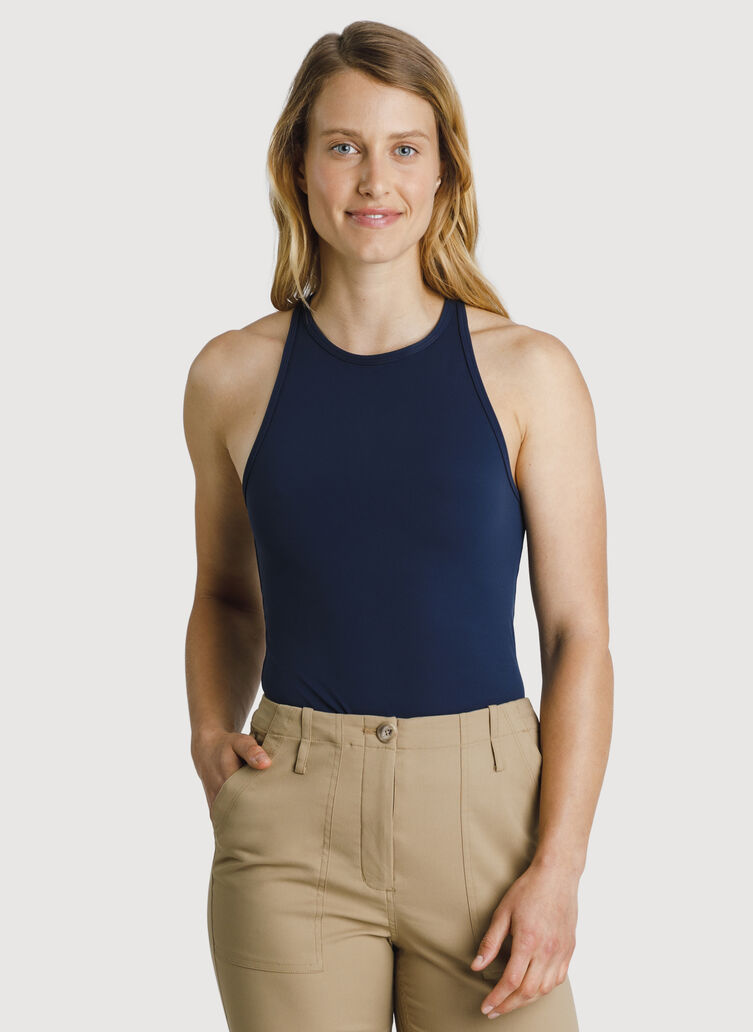 The Base High Neck Tank, DK Navy | Kit and Ace