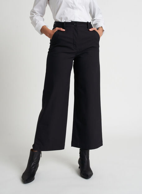 Around Town Crop Pants, Black | Kit and Ace