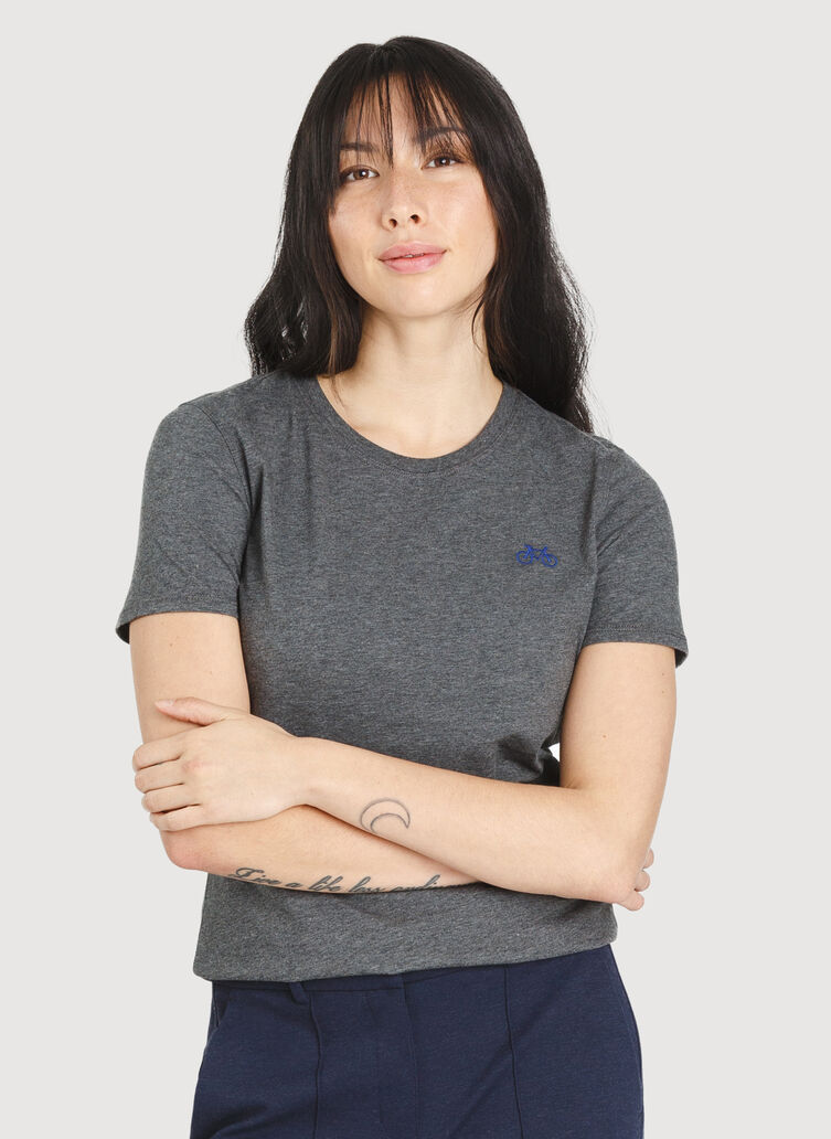 Movement Crew Tee, Heather Charcoal | Kit and Ace