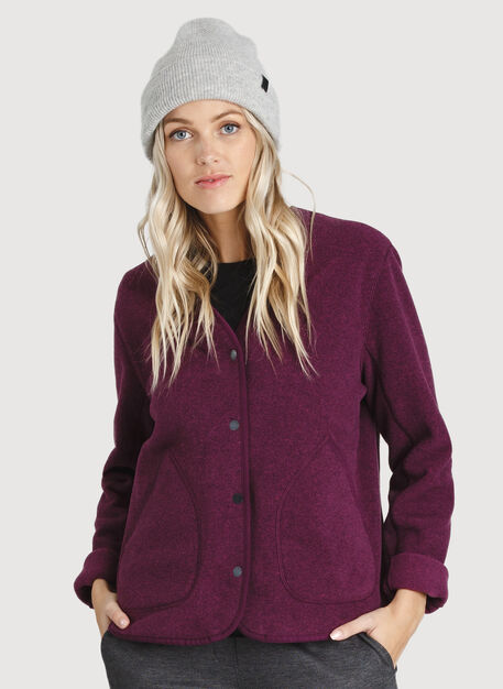 Hygge Short Jacket, Dark Plum | Kit and Ace