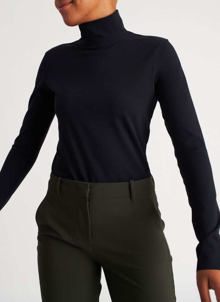 Base Long Sleeve Turtleneck, Black | Kit and Ace