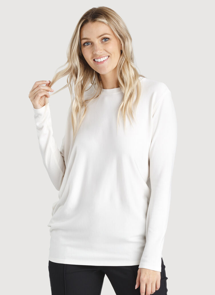 Wave Long Sleeve, Bone White | Kit and Ace