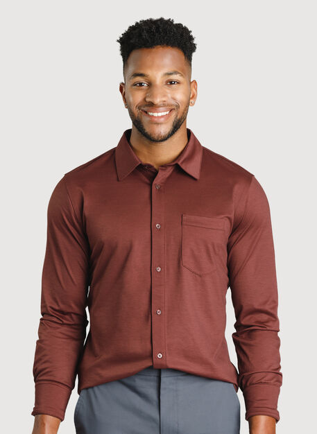 City Tech Classic Shirt, Cherrywood | Kit and Ace