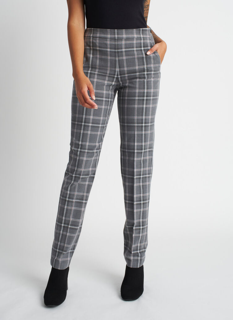 Go To Trouser, PLAID Grey/Charcoal | Kit and Ace