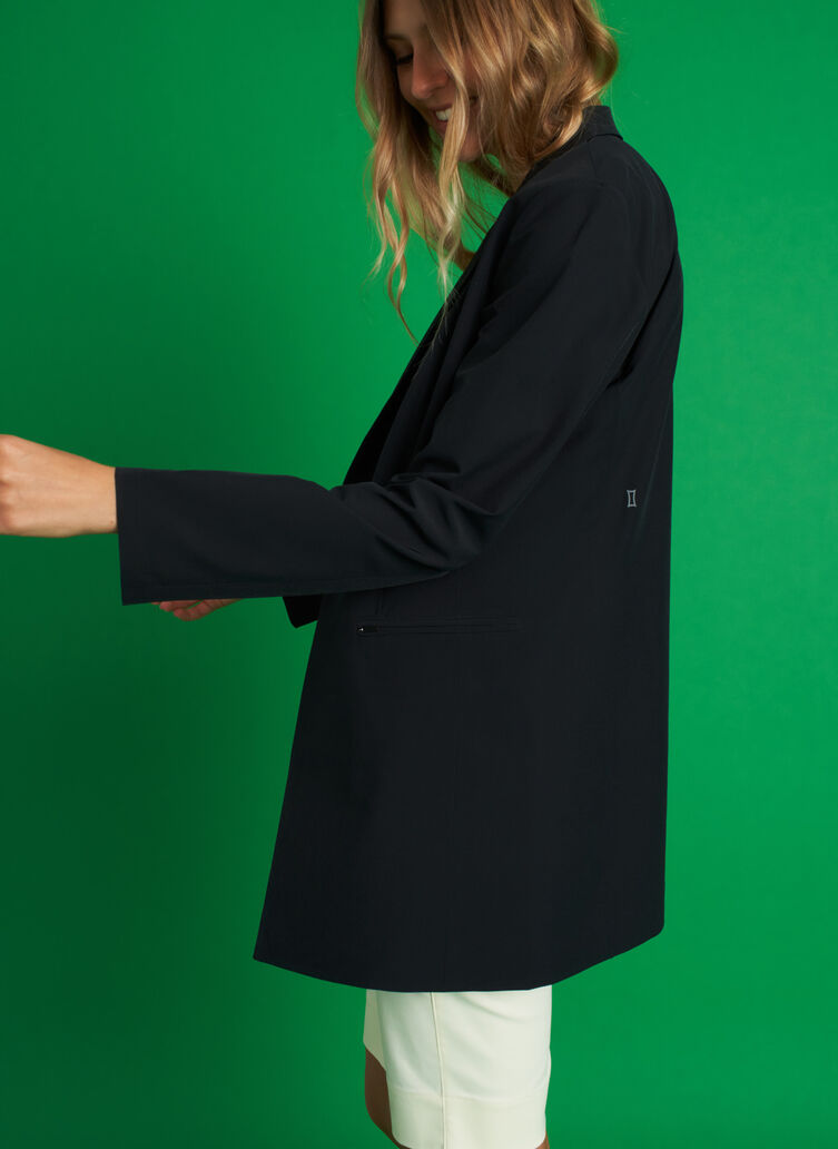 Featherlight Packable Blazer, Black | Kit and Ace