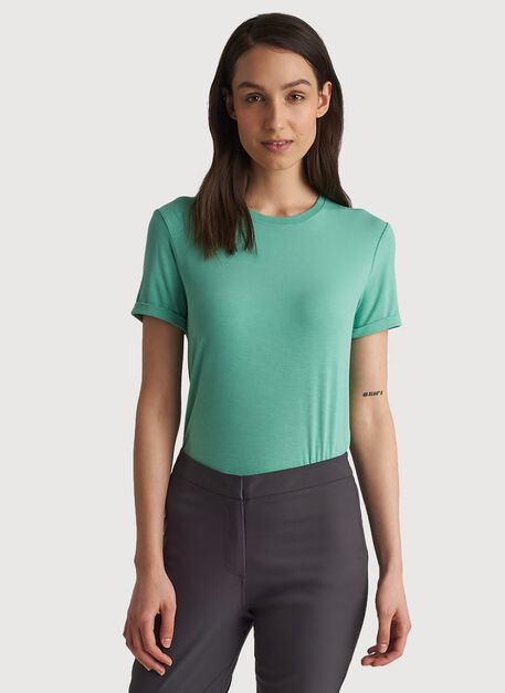 Kit Tech Jersey Crew Tee Slim Fit, HTHR Seafoam | Kit and Ace