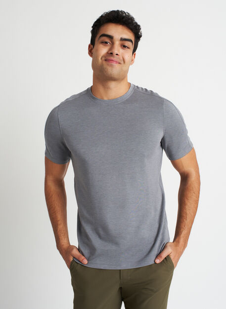 Comfy Brushed Crewneck Tee, Heather Shade | Kit and Ace