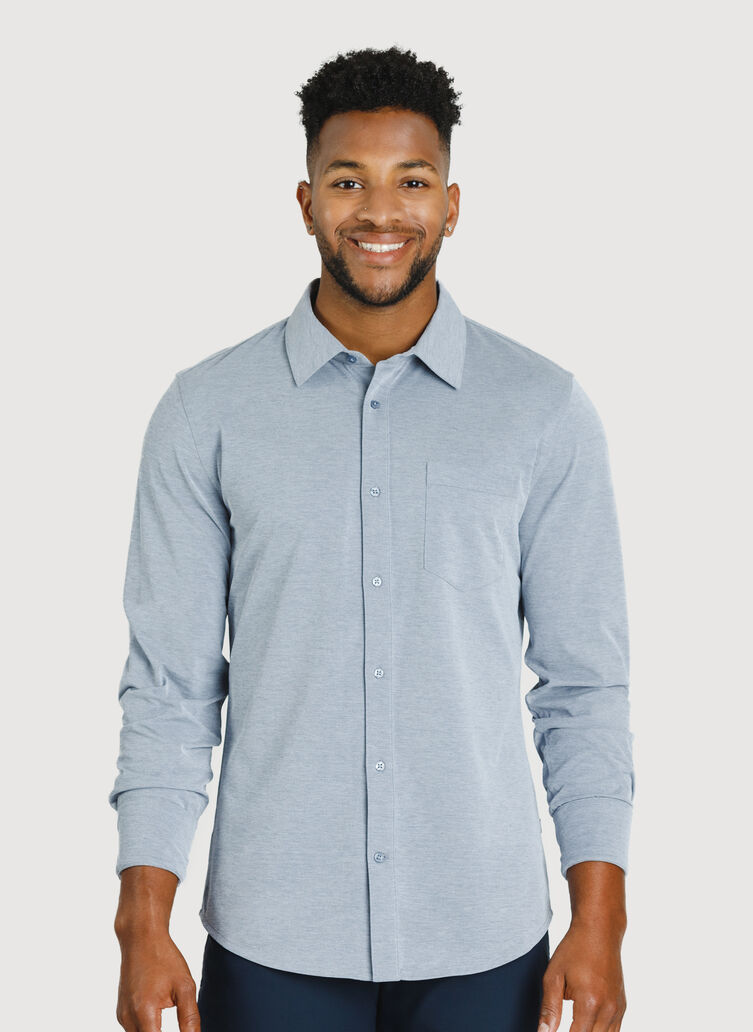 City Tech Classic Shirt, Medieval Chambray | Kit and Ace