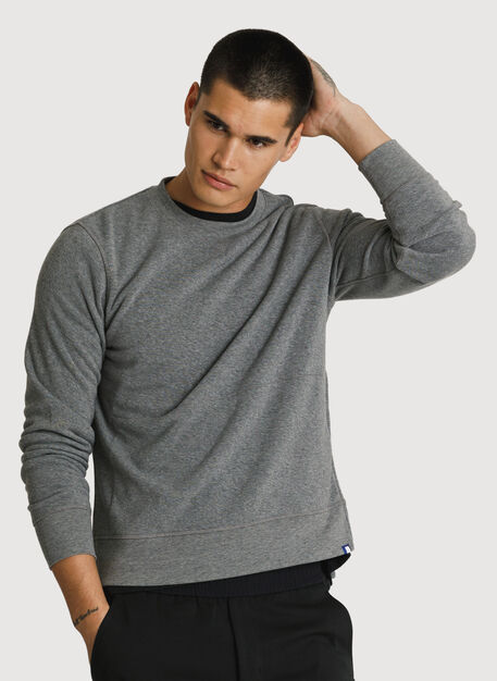 Rec Crew Neck, HTHR GREY | Kit and Ace