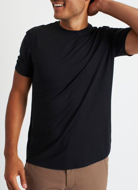 Ace Crewneck Tee, Black | Kit and Ace