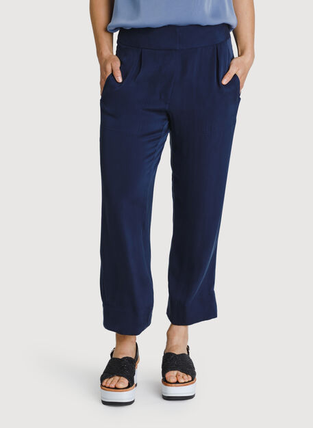 Bike to Office Silk Pant, DK Navy | Kit and Ace