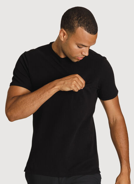 Portside Pique Crew 2.0, BLACK | Kit and Ace