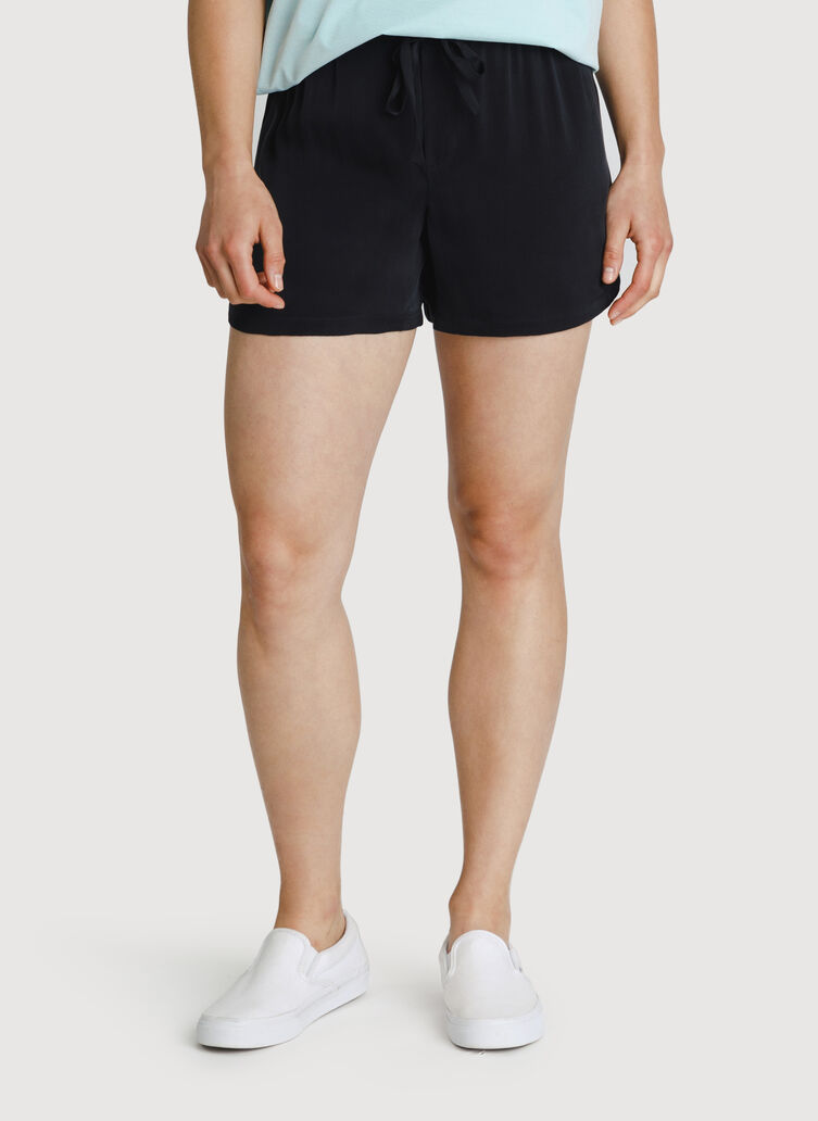 Bike to Office Silk Short, BLACK | Kit and Ace