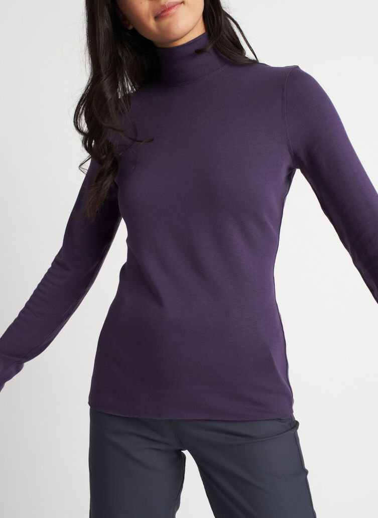 Upgrade Turtleneck, Aubergine | Kit and Ace