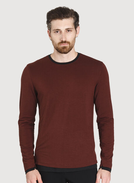 Ace Reversible Long Sleeve, Cherrywood/Black | Kit and Ace