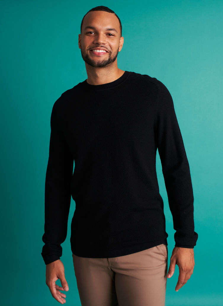 A to B Merino Sweater, Black | Kit and Ace