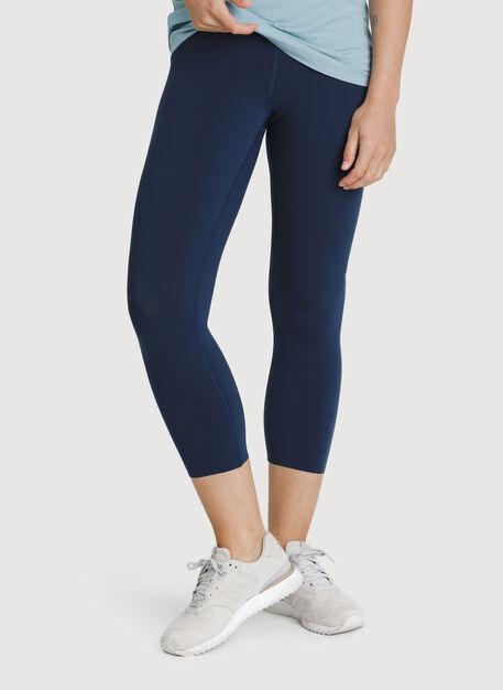 The Office Cropped Leggings, Dark Navy | Kit and Ace