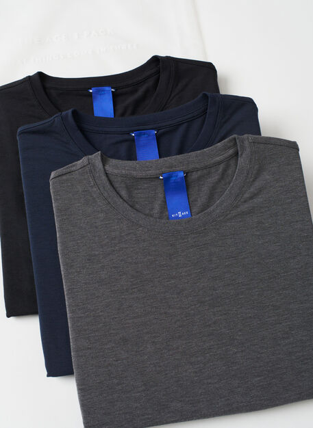 Ace Crew 3 Pack, Black/Heather Charcoal/Dark Navy | Kit and Ace