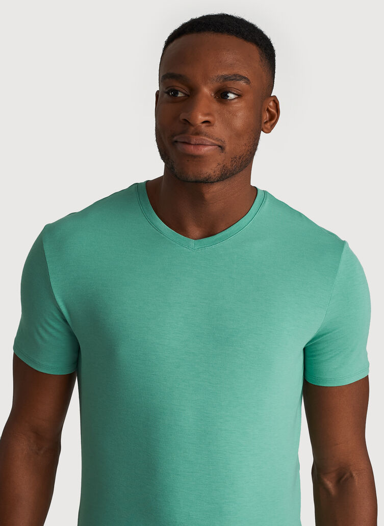 Ace Tech Jersey V Tee Standard Fit, HTHR Seafoam | Kit and Ace